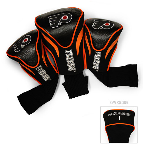 Team Golf NHL Philadelphia Flyers 3 Pack Contour Head Covers