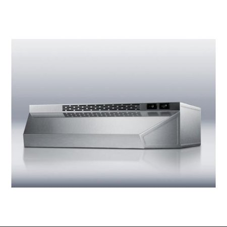 Summit: H1736SS 36'' Under Cabinet Range Hood with 180 CFM Interior Blower, 2 Fan Speeds, Switchable -