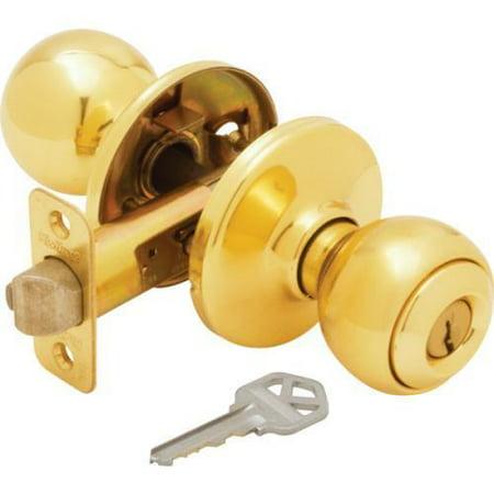 Knob Set Storeroom Lock (Kwikset Polo Storeroom Lock Brass )