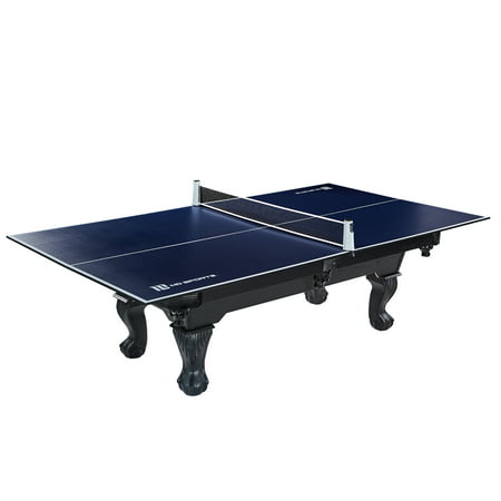 "MD Sports Table Tennis Conversion Top with Retractable Net, No Assembly Required, 108"" x 60"", Blue"