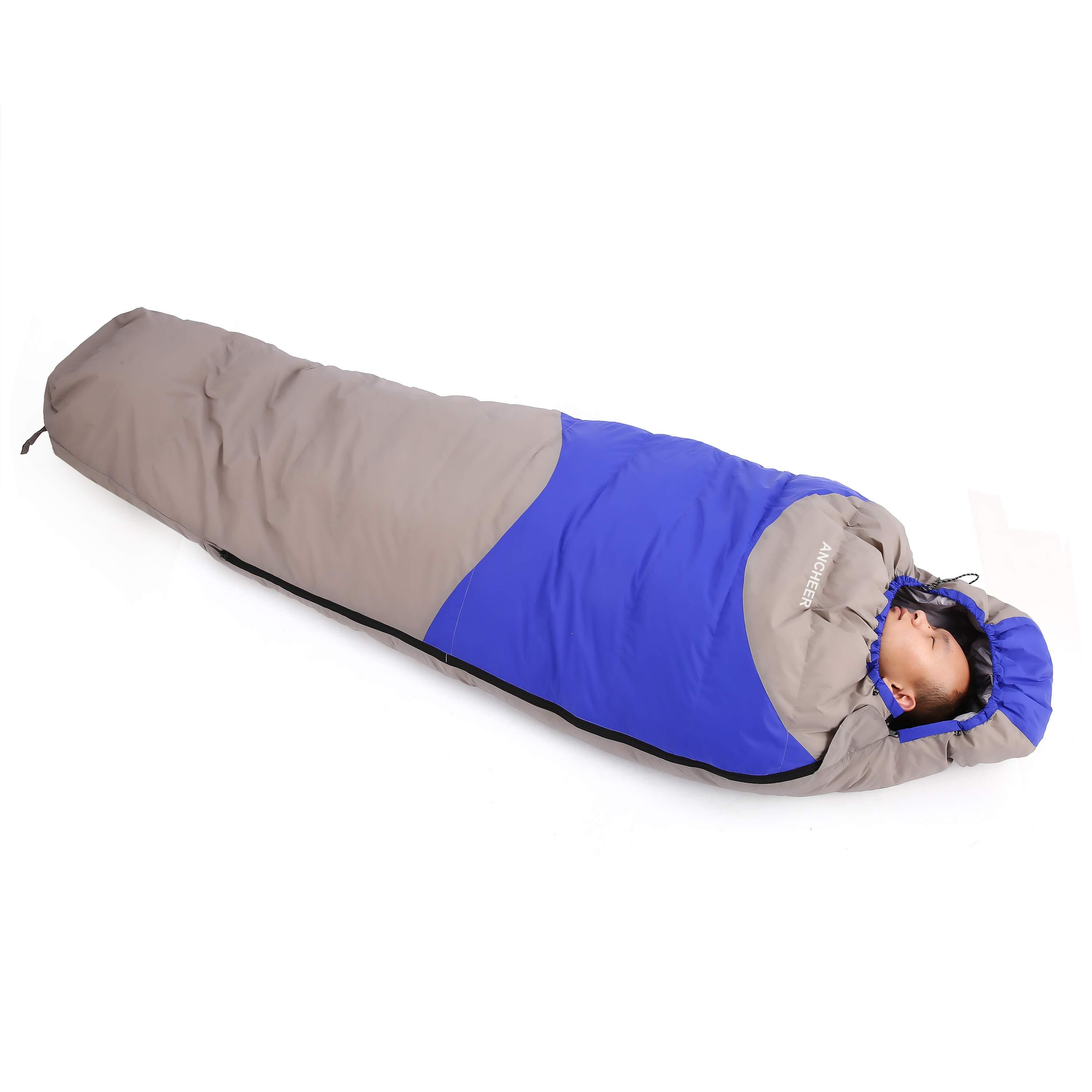 Foldable 15 Degree Ultralight Mummy Down Sleeping Bag Winter for Camping Hiking Travel by