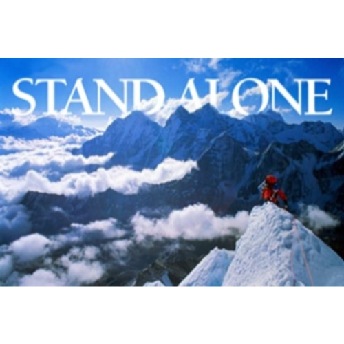 Stand Alone 24x36 Poster INSPERATIONAL SNOW SKIING HIKING PERSEVERANCE MOUNTA TRAIL SKY WINTER