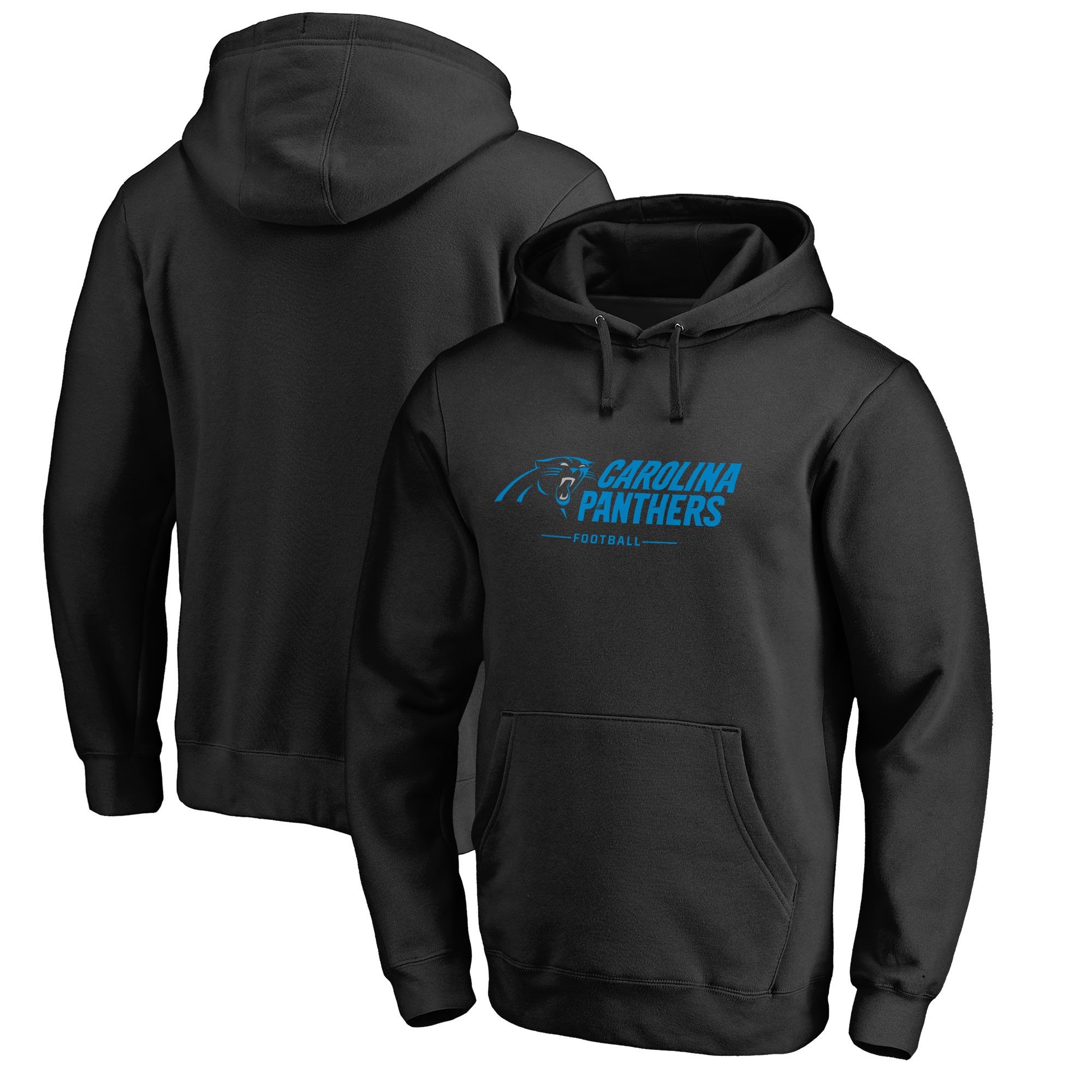 Carolina Panthers NFL Pro Line by Fanatics Branded Team Lockup Pullover Hoodie - Black
