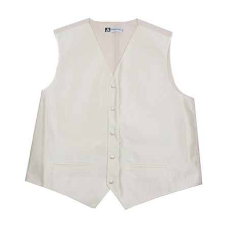 Men's Solid Formal Vest Cream for Tuxedo and -