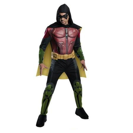 Rubie\'s Men\'s Batman Arkham City Deluxe Muscle Chest Robin, Multicolor, - Arkham Asylum Costume