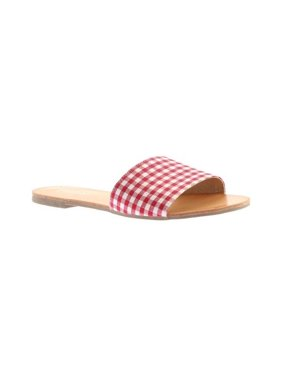 76ff64380 Product Image Women s Portland Boot Company Amy Gingham Slide Sandal