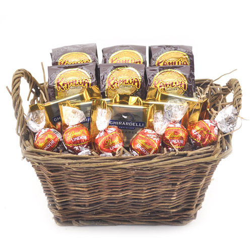 Sweets in Bloom Kahlua Coffee and Chocolate Basket
