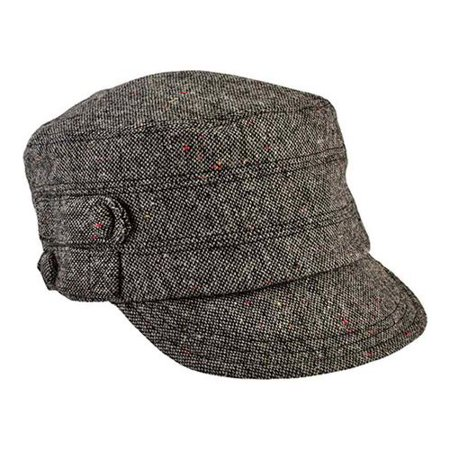 Women's San Diego Hat Company Cadet Speckled Tweed Newsboy Cap (Cadet Newsboy Cap Hat)