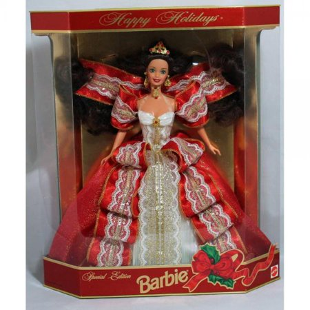 Happy Holidays Barbie Doll - Special Edition 10th Aniversary Hallmark 5th in Series (1997 Holiday Rambler Aluma Lite 5th Wheel)