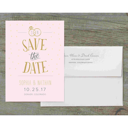 Joyful Rings Deluxe Save the Date