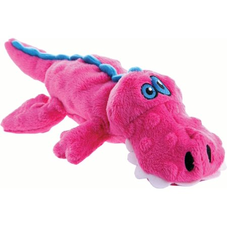 goDog® Just For Me™ Gators with Chew Guard Technology™ Plush Squeaker Dog Toy, Pink - Dog Plush Toys