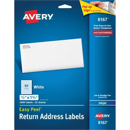 Averyr Easy Peelr Return Address Labels For Inkjet Printers 8167