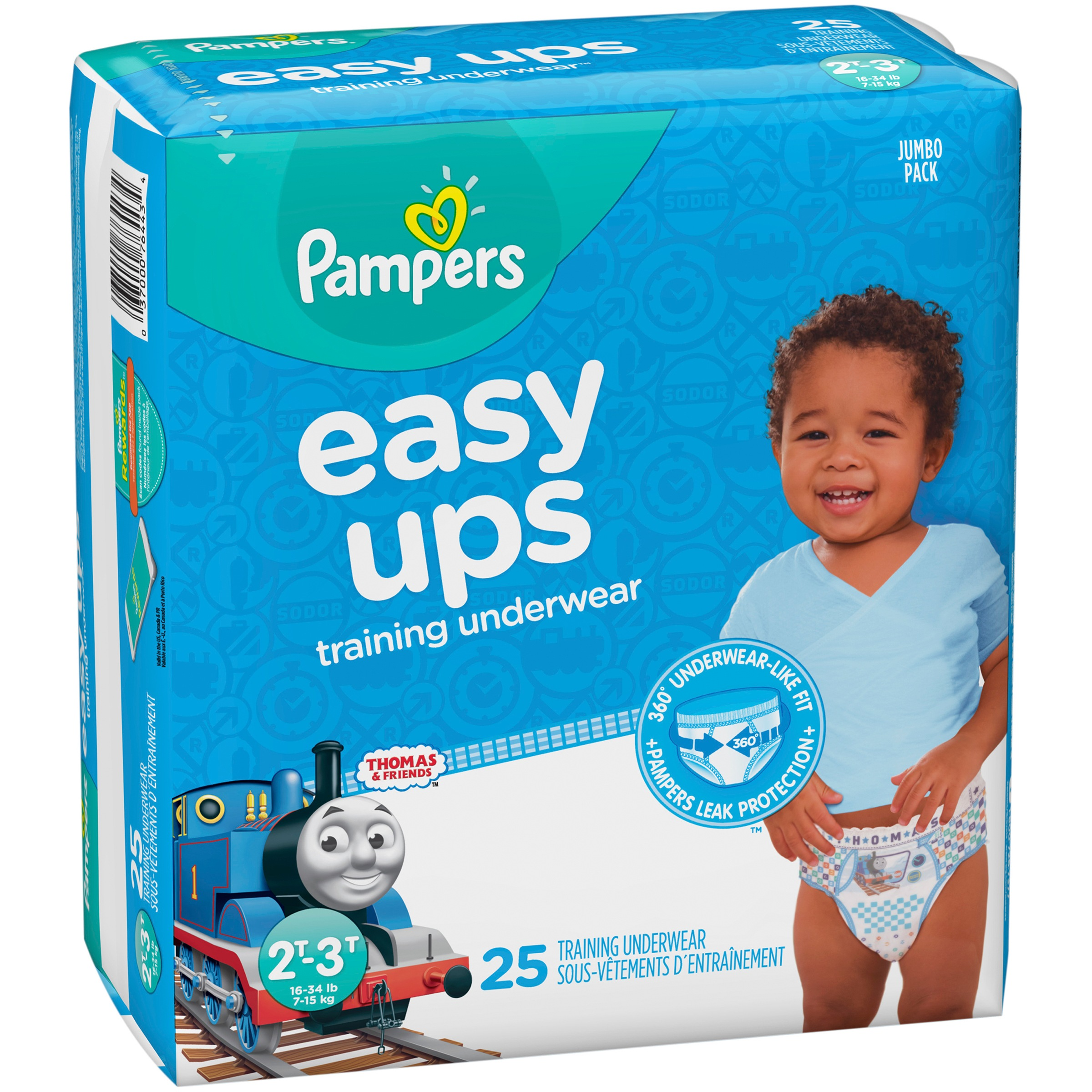 Pampers Easy Ups Thomas & Friends™ Training Underwear Size 2T–3T, 25 Count Pack