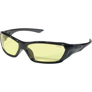 ForceFlex Protective Eyewear, Amber Lenses, Black (America Eye Glasses)
