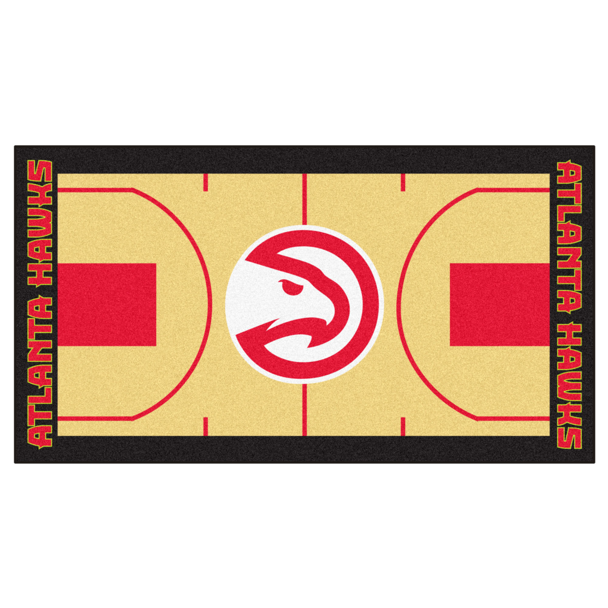 NBA Atlanta Hawks NBA Court Non-Skid Mat Area Rug Runner