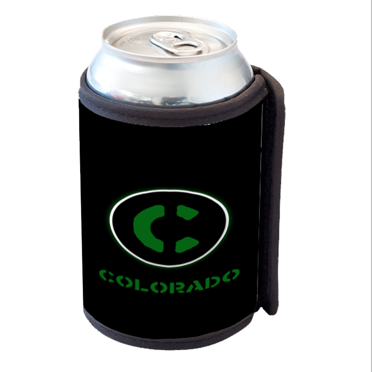 KuzmarK Insulated Drink Can Cooler Hugger - Colorado