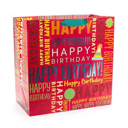 Hallmark Extra Large Birthday Gift Bag Happy