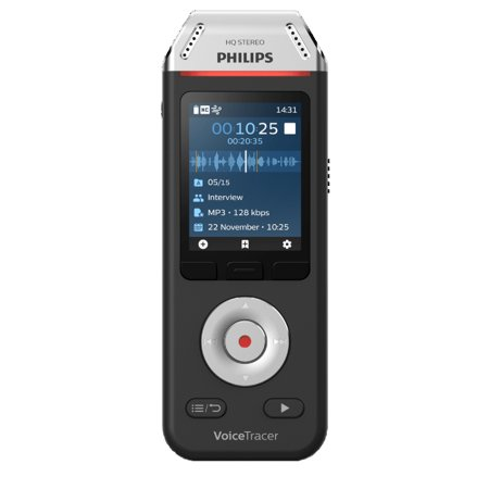 Philips 2810 VoiceTracer Audio Recorder with Speech Recognition Software, Black (Philips Tape Recorder)