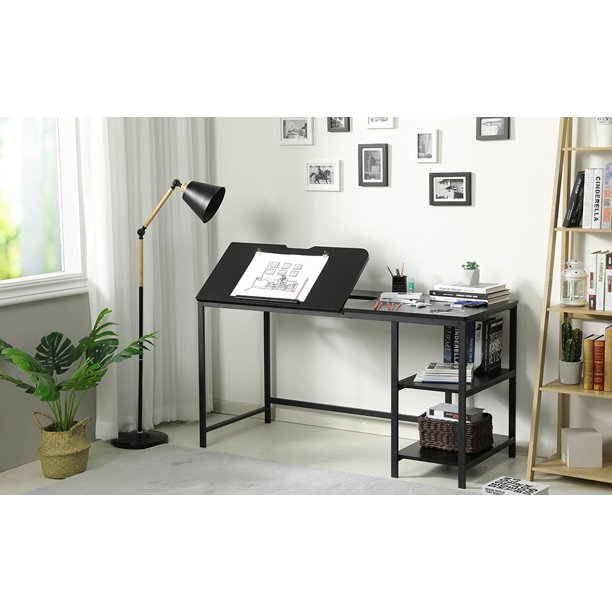 Drafting Table 55 Inch Drawing, Art Desk With Storage