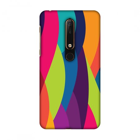 New Nokia 6 2018 Case - Bold Waves, Hard Plastic Back Cover, Slim Profile Cute Printed Designer Snap on Case with Screen Cleaning Kit