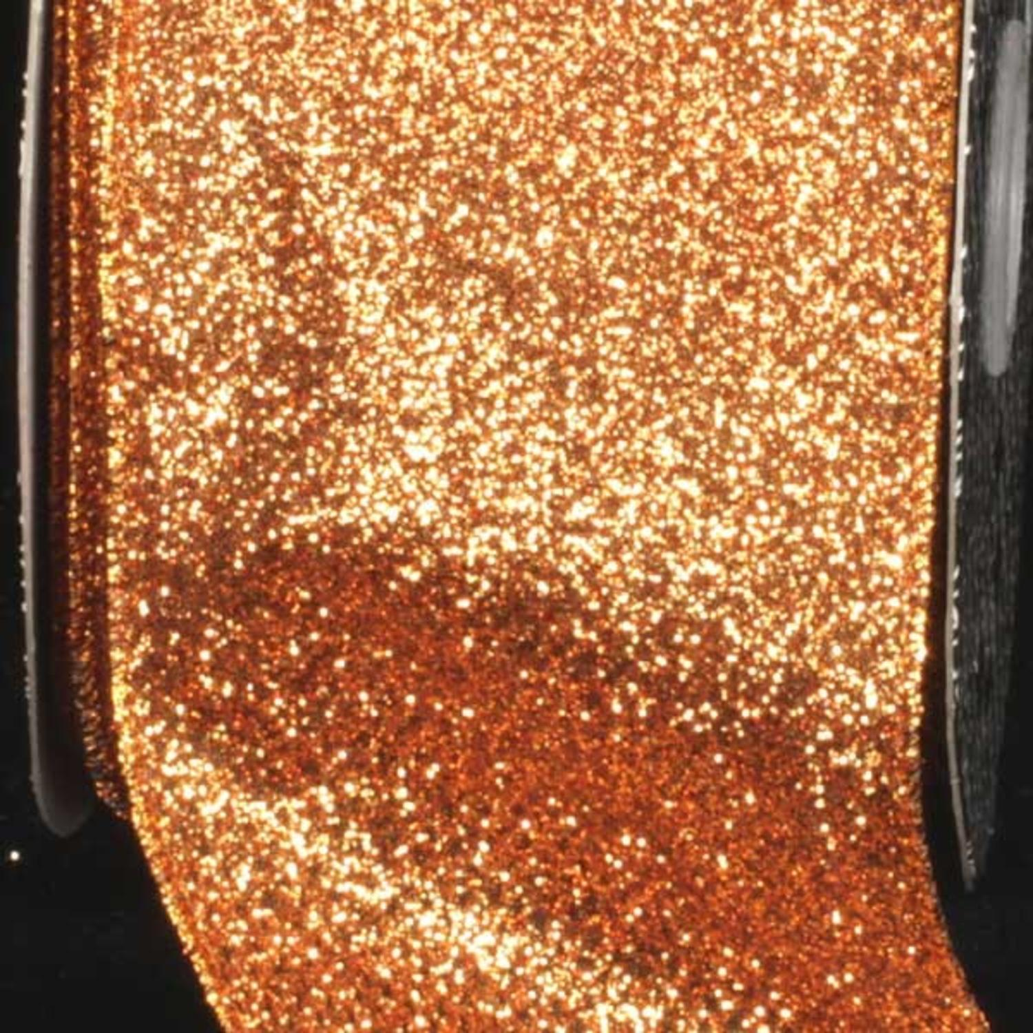 "Premium Sparkling Gold Wired Glitter Craft Ribbon 3"" x 40 Yards"