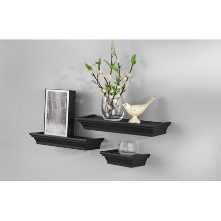 mainstays 3 piece decorative shelf set black - Decorative Shelf