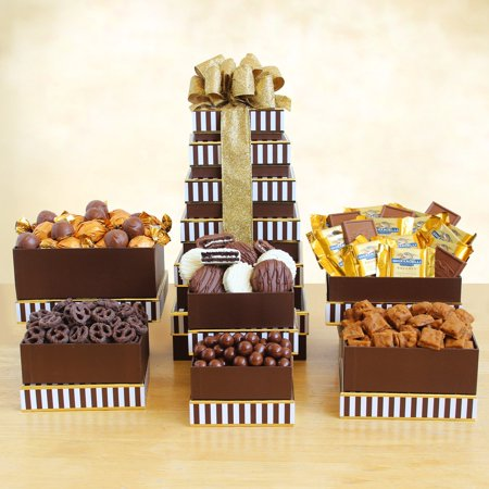 Decadent Chocolate Gift Tower Basket (Chocolate Indulgence Gift Tower)