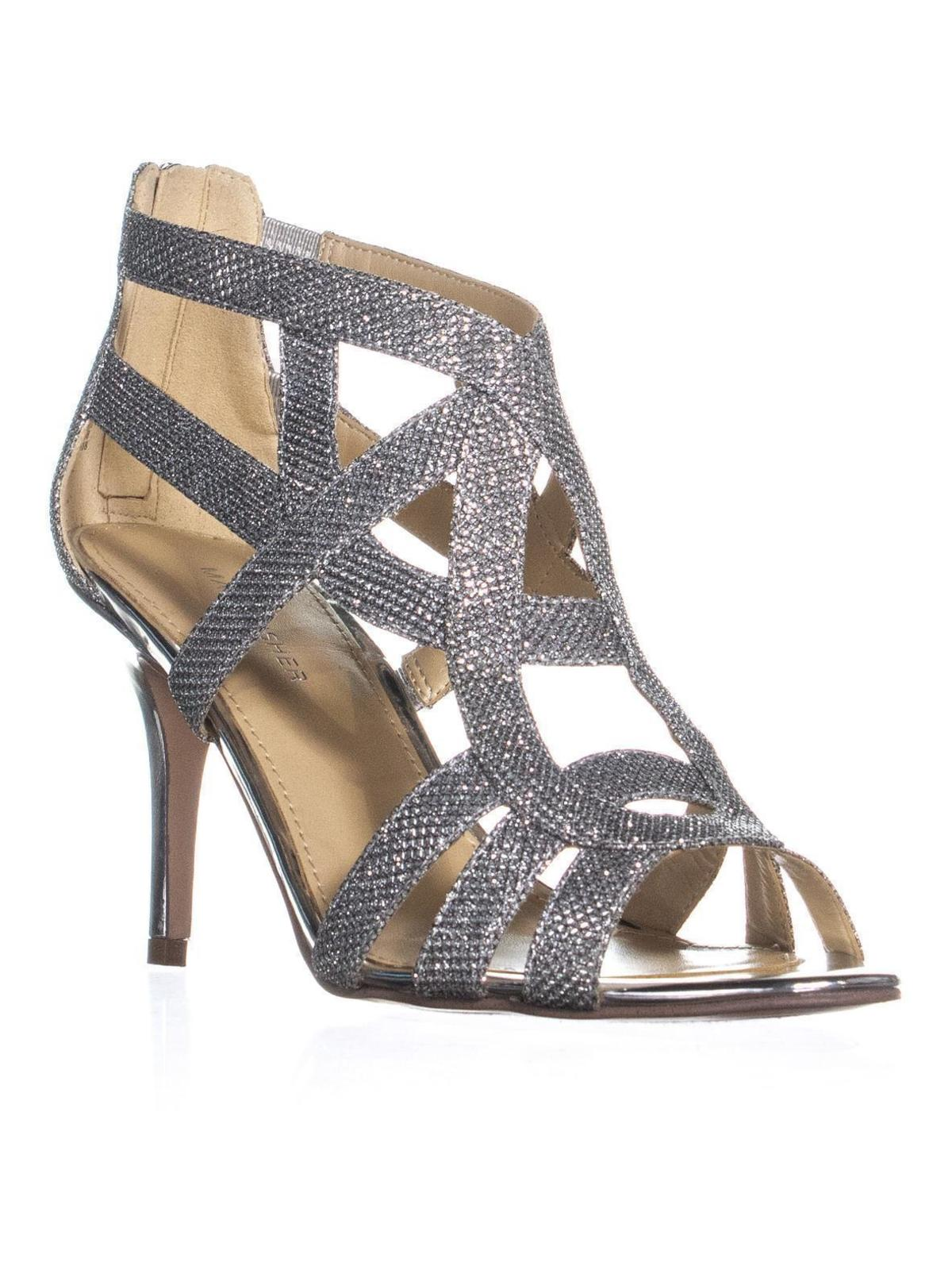 c72040accb Marc Fisher Nala3 Strappy Dress Sandals, Silver
