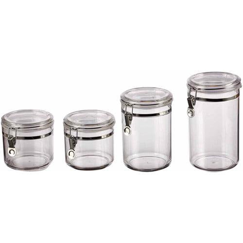 classical 4 canister set clear walmart com