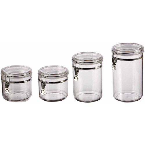 Mainstays Classical 4 Piece Canister Set, Clear
