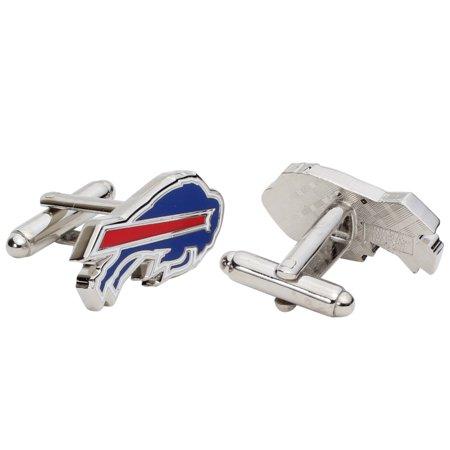 Buffalo Bills Silver-Plated Team Logo Cufflinks - No Size