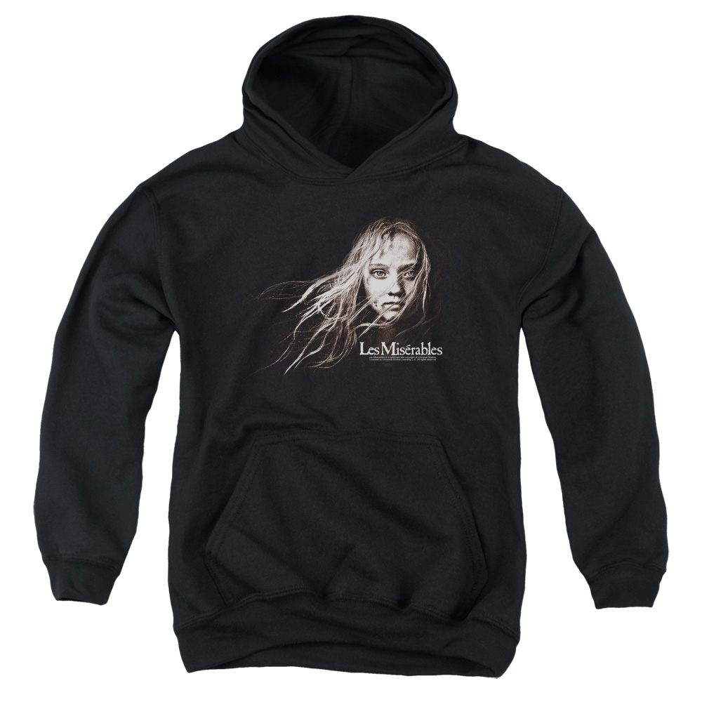 Les Miserables Cosette Face Big Boys Pullover Hoodie