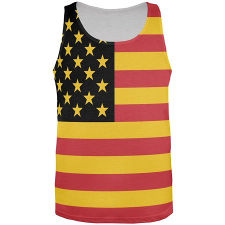 German American Flag All Over Adult Tank Top