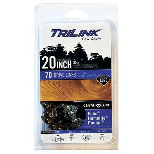 TRILINK CL85070NSTL2 Replacement Saw Chain, 20in. L, 70 Links