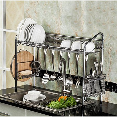 PremiumRacks Professional Over The Sink Dish Rack - Fully Customizable - Multipurpose - Large Capacity - New Product May (Over Sink Organizer)