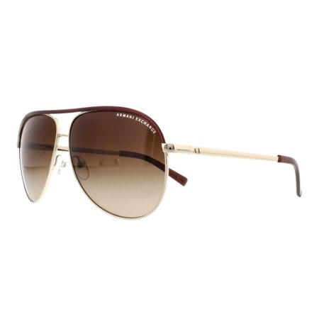 ARMANI EXCHANGE Sunglasses AX2002 601013 Gold Brown (Armani Folding Sunglasses)