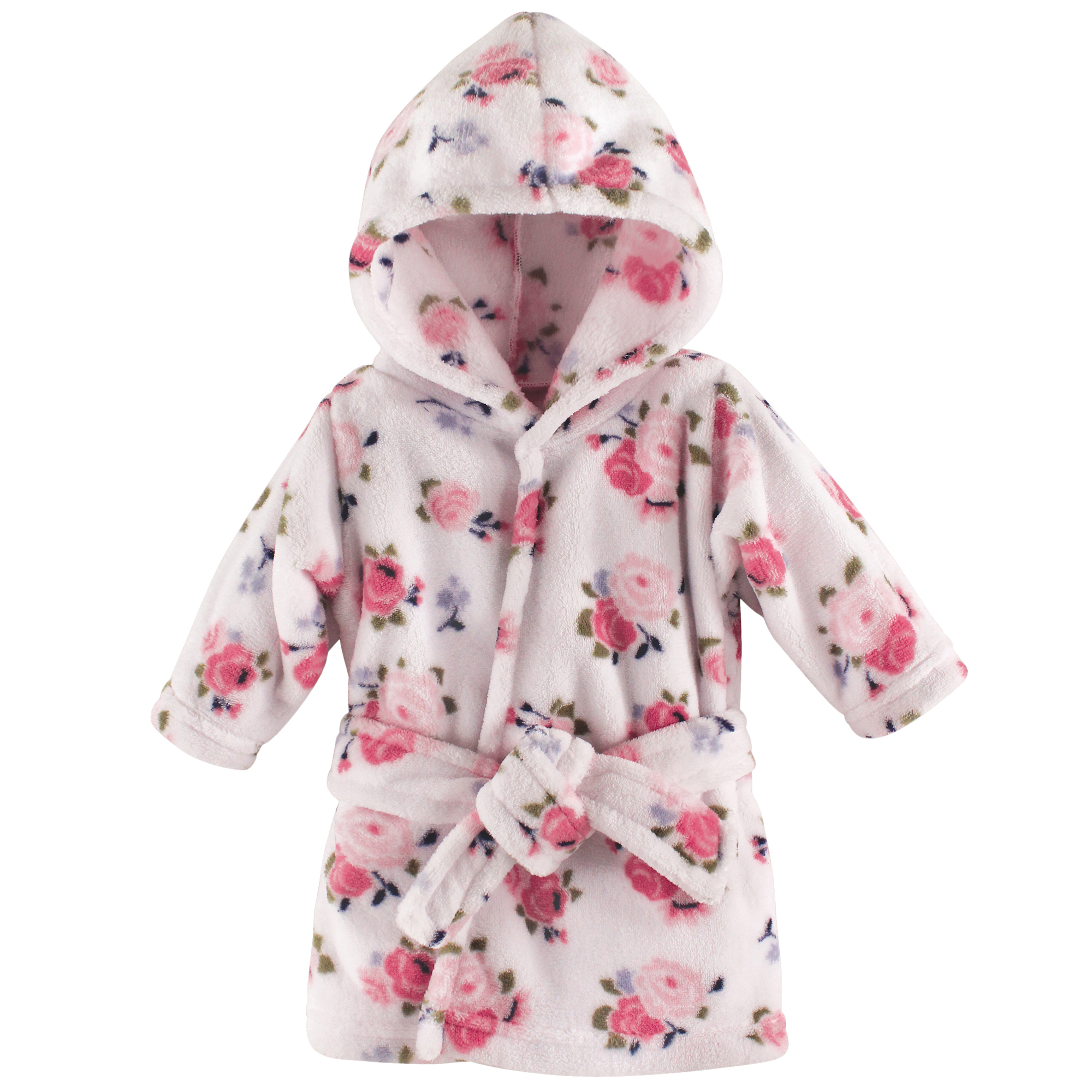 Baby Coral Fleece Bathrobe, Floral