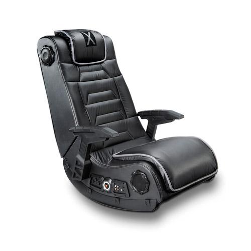 X Video Rocker Impact Mesh Sound Gaming Chair Black