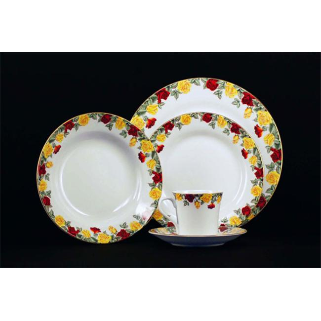 Euland China DS0-001R Roses Dinnerware Set - Service For 8