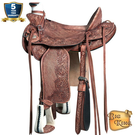 17 Western Horse Saddle Leather Wade Ranch Roping Mahogany By