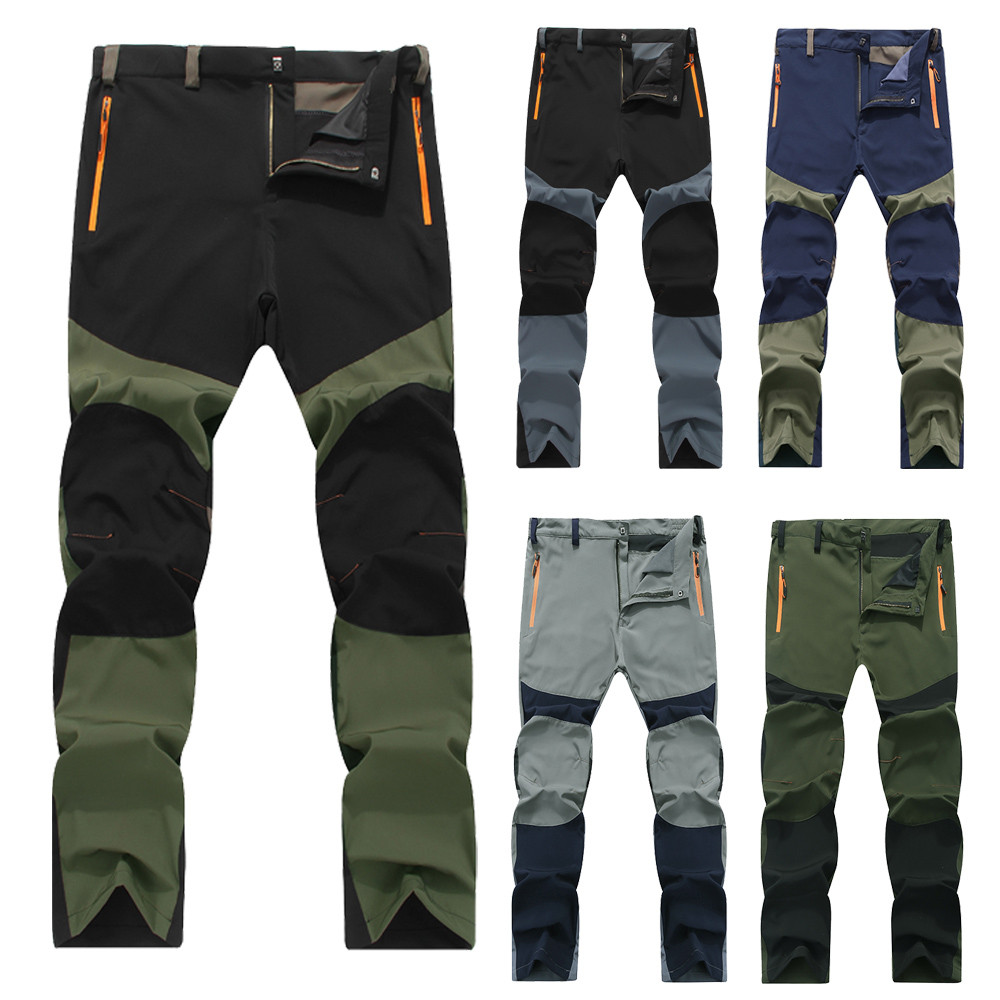 Mens Camping Hiking Waterproof Windbreak Cotton Outdoor Trousers Casual Pants