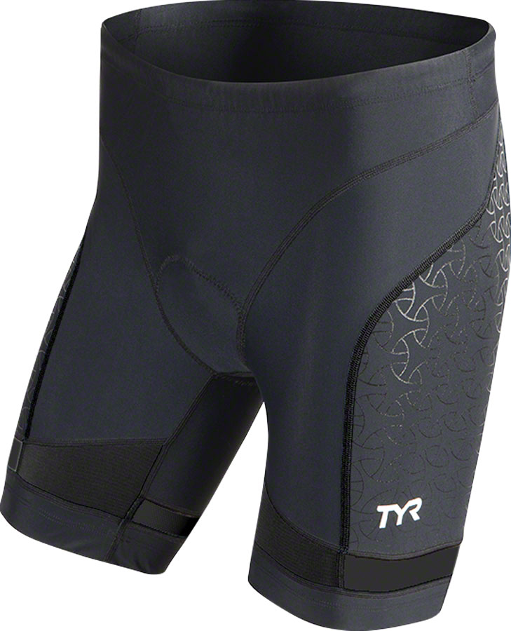 "TYR 7"" Competitor Series Triathlon Chamois Cycling Short: Black XL by TYR"