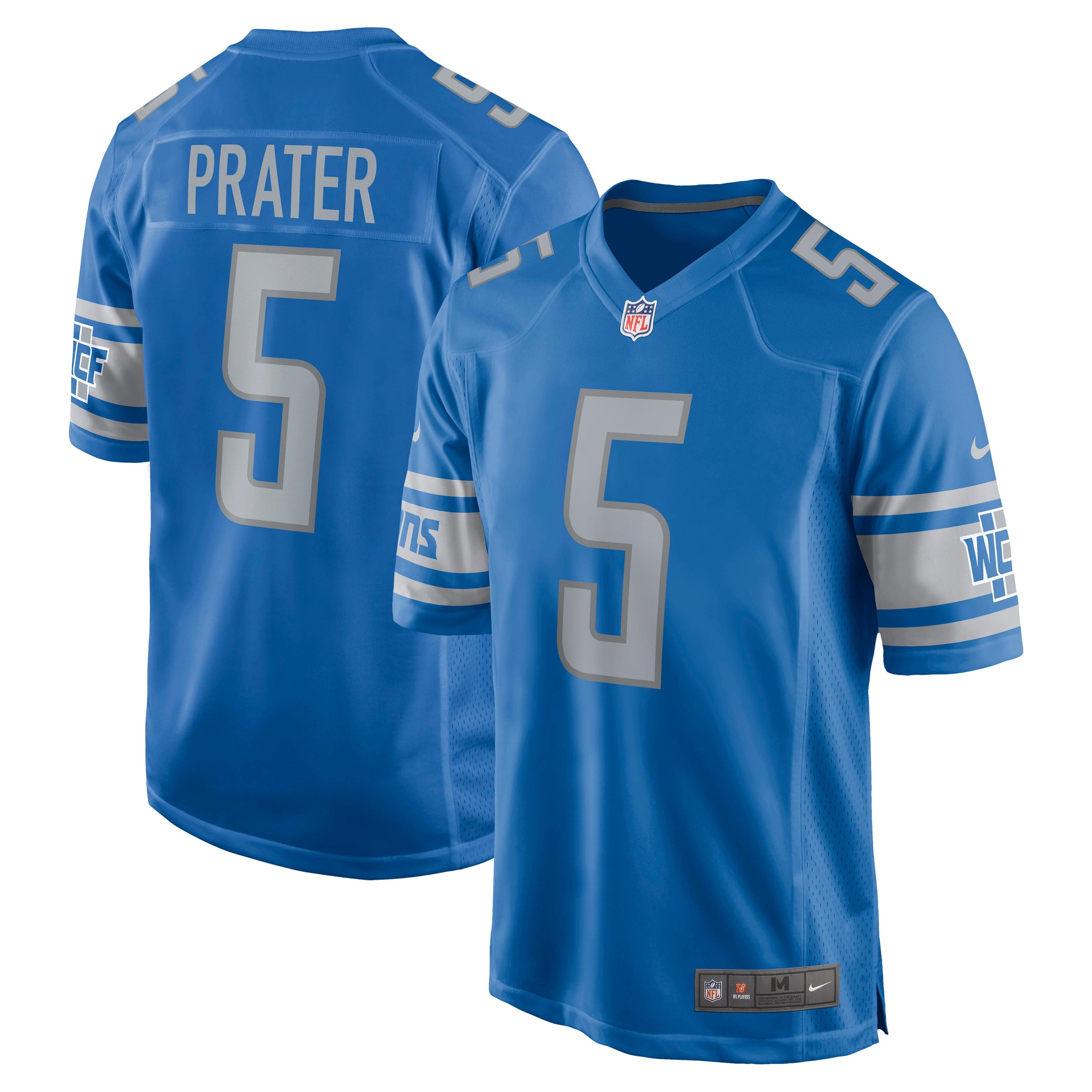 Matt Prater Detroit Lions Nike Game Jersey - Blue - Walmart.com