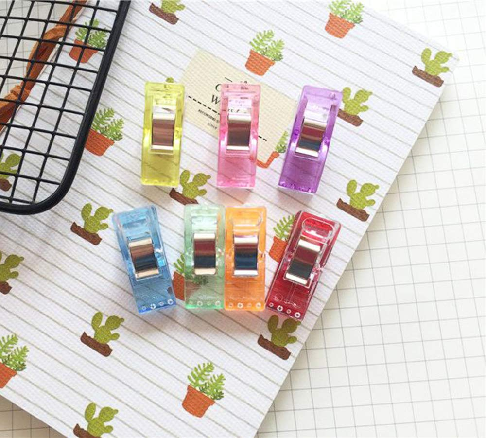 Multipurpose Sewing Clips for Quilting and Crafts,50 Pcs Premium Quilting Clips and Sewing Fabric Clips,Colorful Magic Sewing Clips for Sewing Binding,Crafts,Paper Work and Hanging Little Things