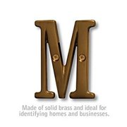 SalsburyIndustries 1240A-M Solid Brass 3 in. Letter, Antique - M