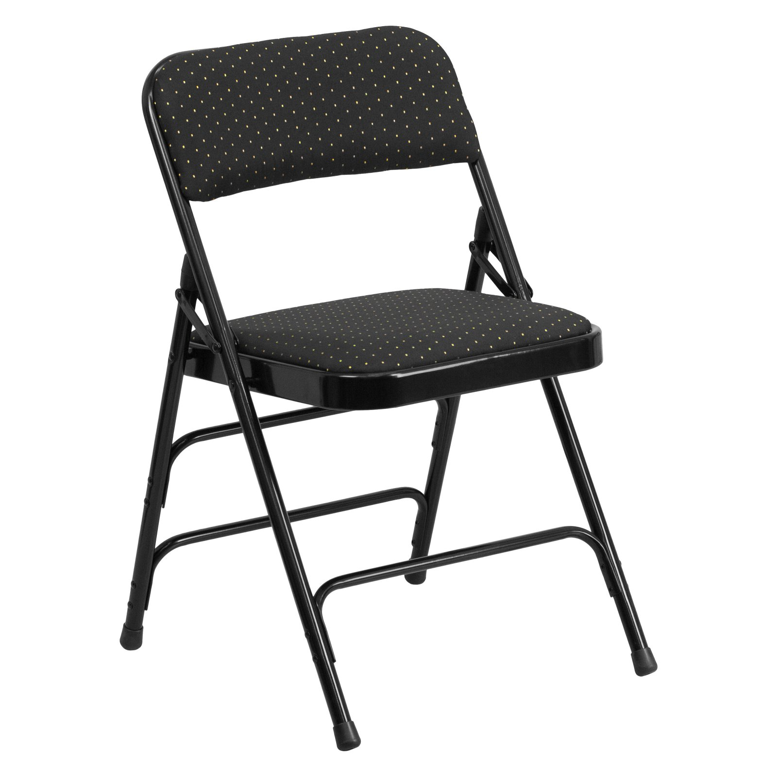 Flash Furniture HERCULES Series Curved Triple Braced and Double Hinged Patterned Fabric Upholstered Metal Folding Chair, Multiple Colors