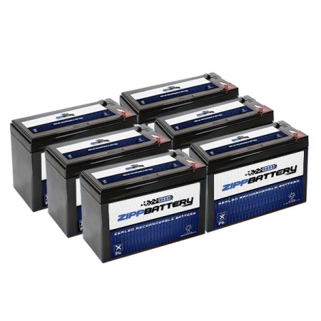 Chrome Battery 12V 7AH SLA Battery Replaces hr9-12 gp1270...