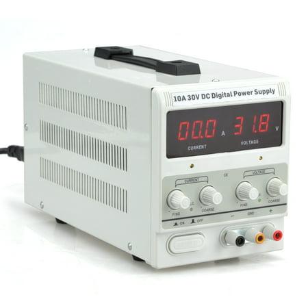 Hiltex 10A 30V DC Power Supply | Adjustable Dual Digital Variable Precision | Lab