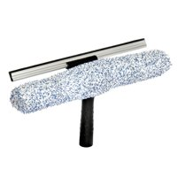 """Alpine Industries 14"""" Microfiber Window 2-in-1 Combo Professional Squeegee and Window Scrubber"""