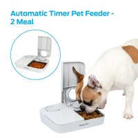 Premier Pet Automatic Timer Pet Feeder - Feeder that Dispenses Dog and Cat Dry Food